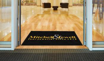 Custom-embroidered commercial mat