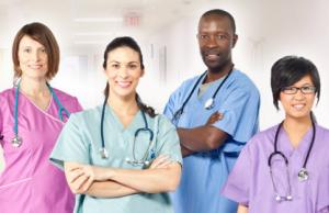 Medical scrubs for healthcare workers